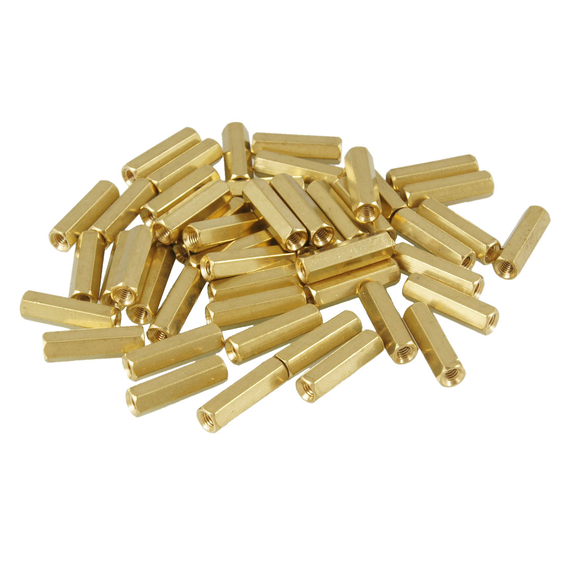 50 Pcs Female Thread Hexagonal PCB Standoff Spacer M3X16mm