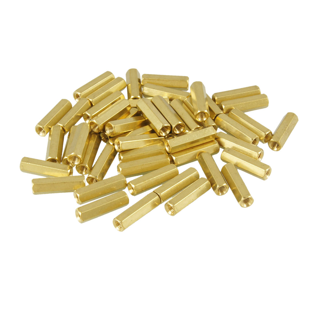 50 Pcs M3X17mm Hex Head Female Thread PCB Standoff Spacers