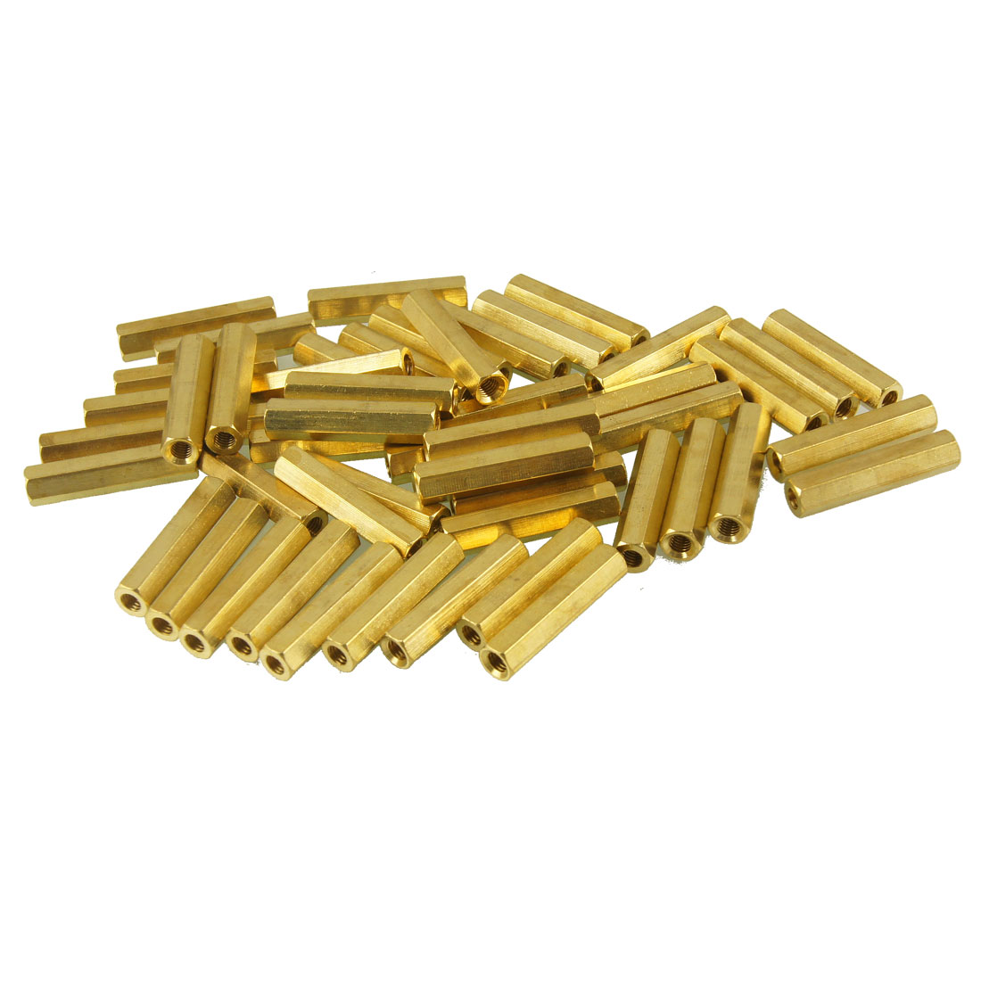 50 Pcs Female Thread Hexagonal PCB Standoff Spacer M3x22