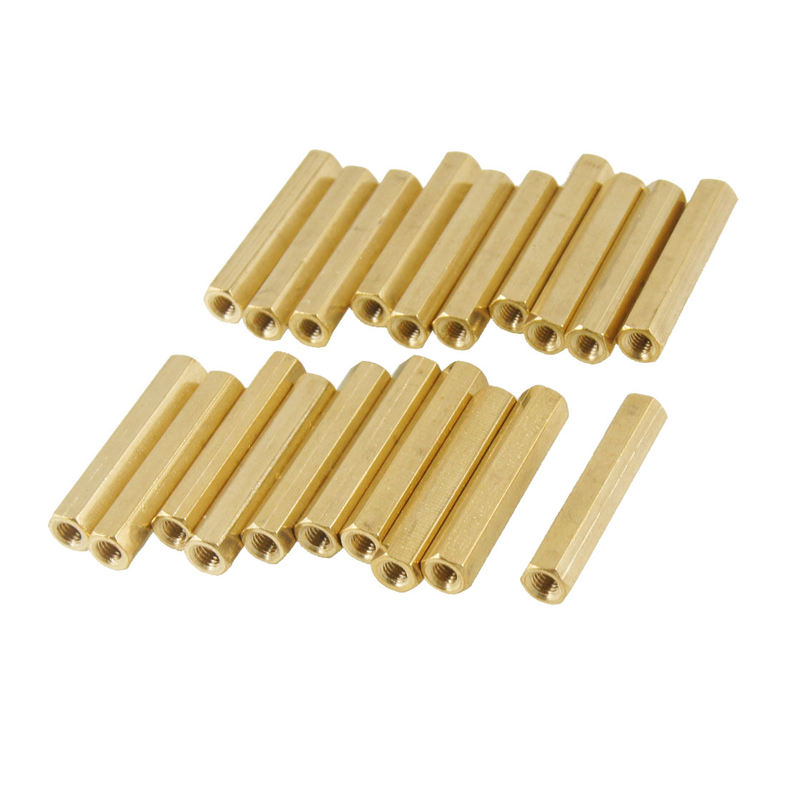 20 Pcs Brass M3X26mm Hex Head Female Screw PCB Standoffs Spacers Support