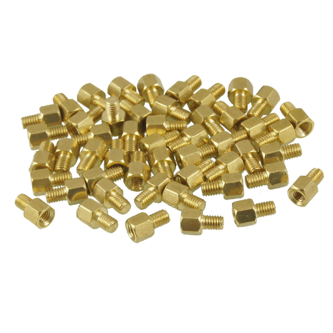 50 Pcs Brass PCB Standoffs Hexagonal Spacers M3 Male x M3 Female 4mm