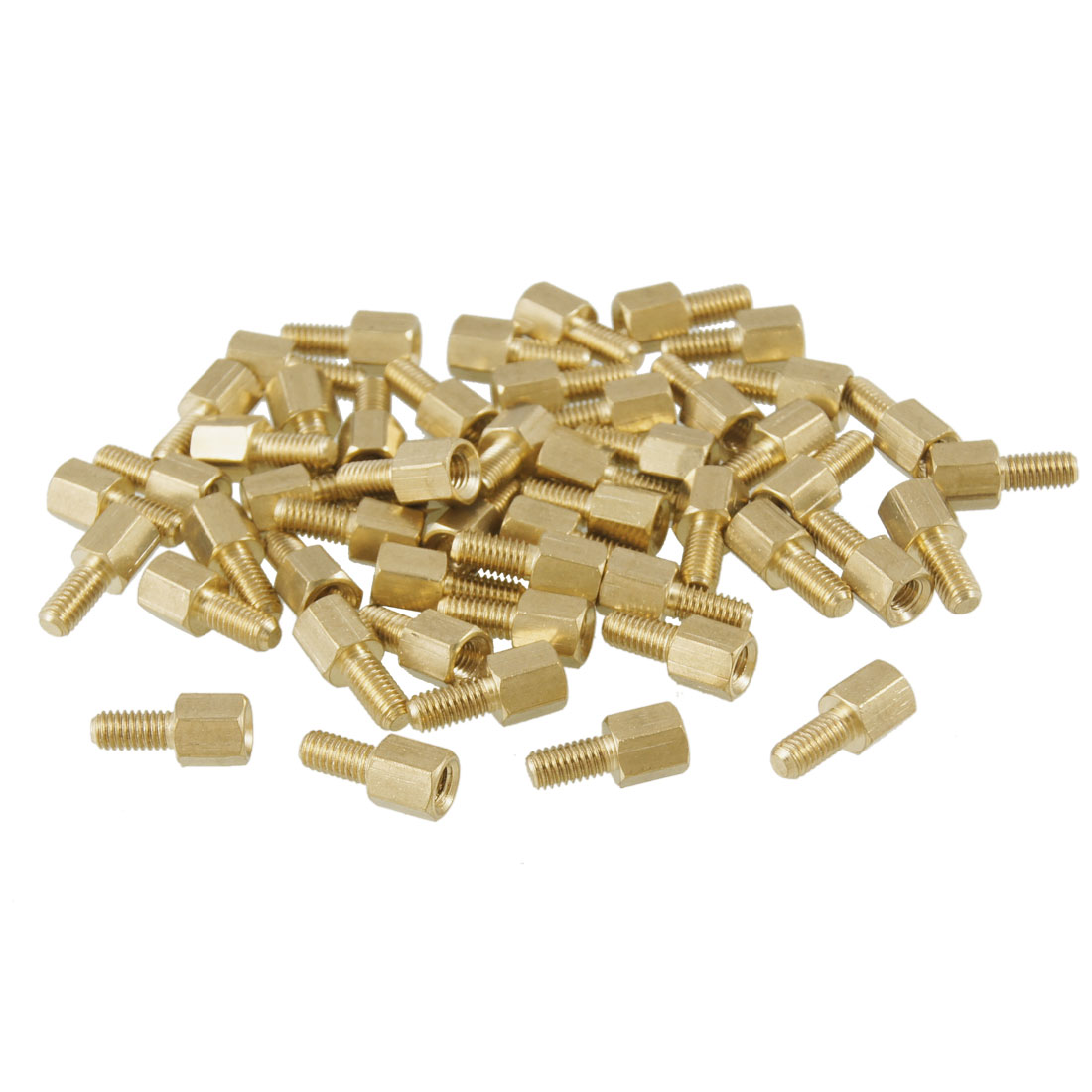 50 Pcs 5mm Body Threaded M3 Male to M3 Female Standoffs Hexagonal Spacers