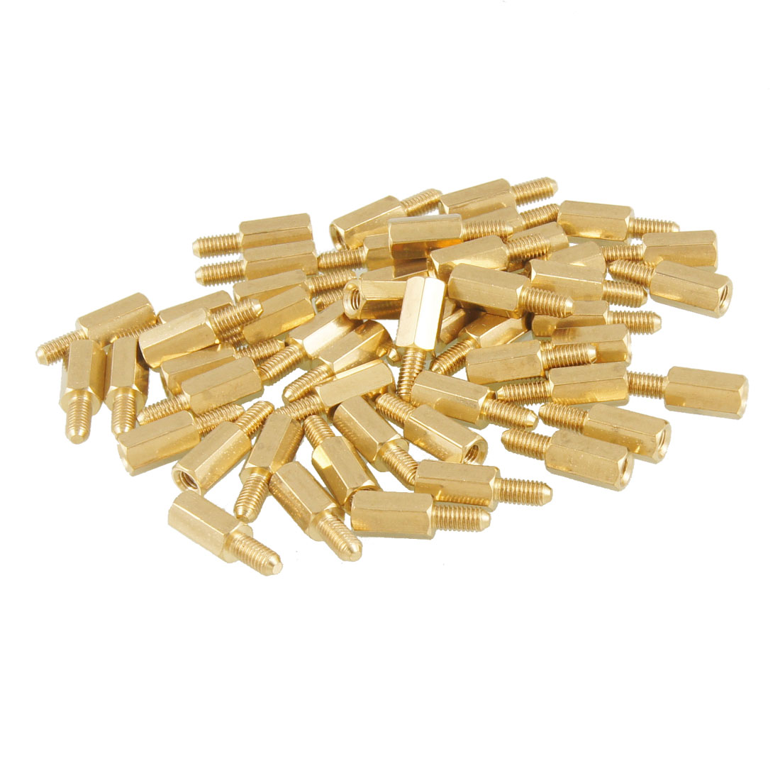 50 Pcs Brass Screw Thread PCB Stand-off Spacer M3 Male x M3 Female 6mm