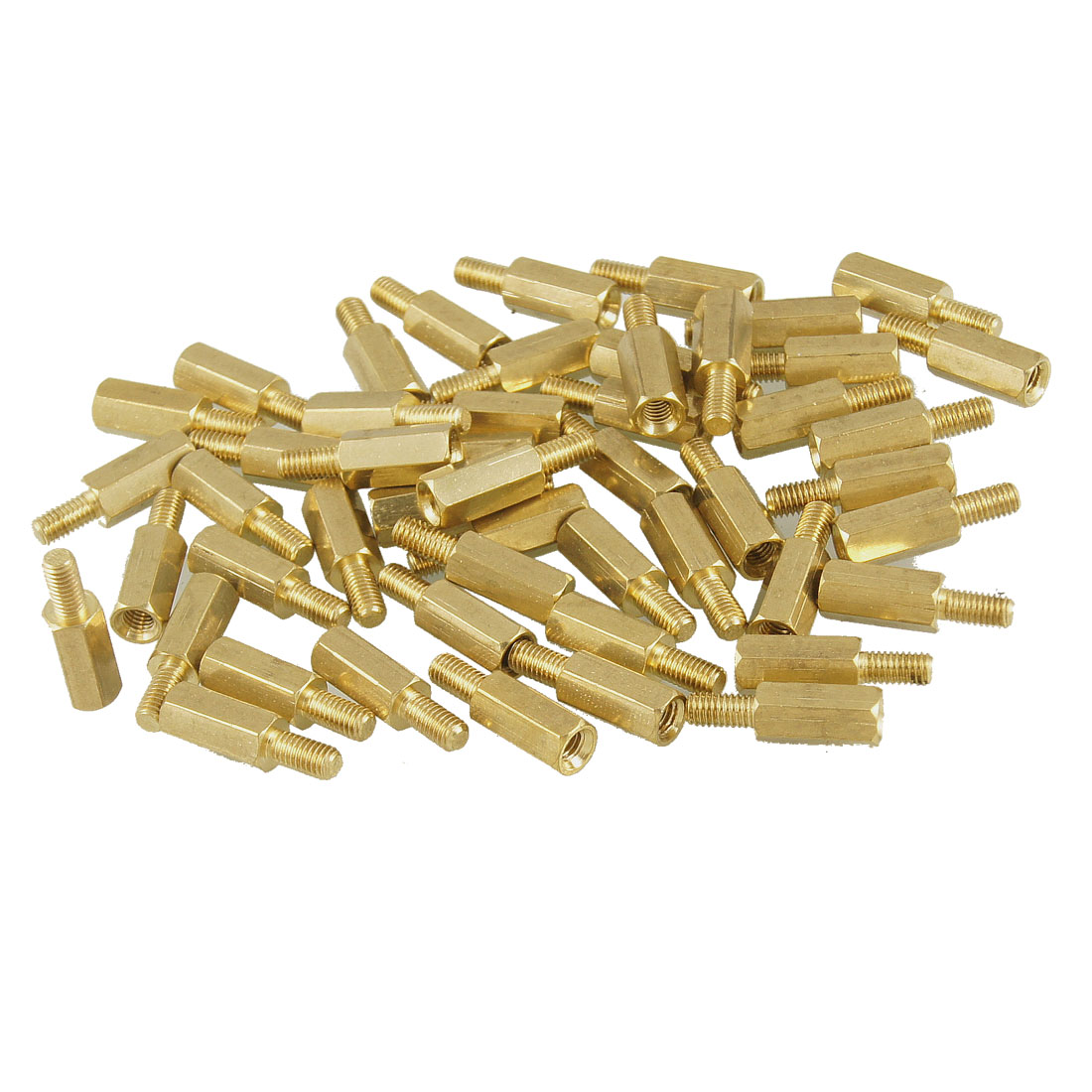 50 Pcs M3 Male x M3 Female 11mm Length Brass Screw Thread PCB Stand-off Spacers