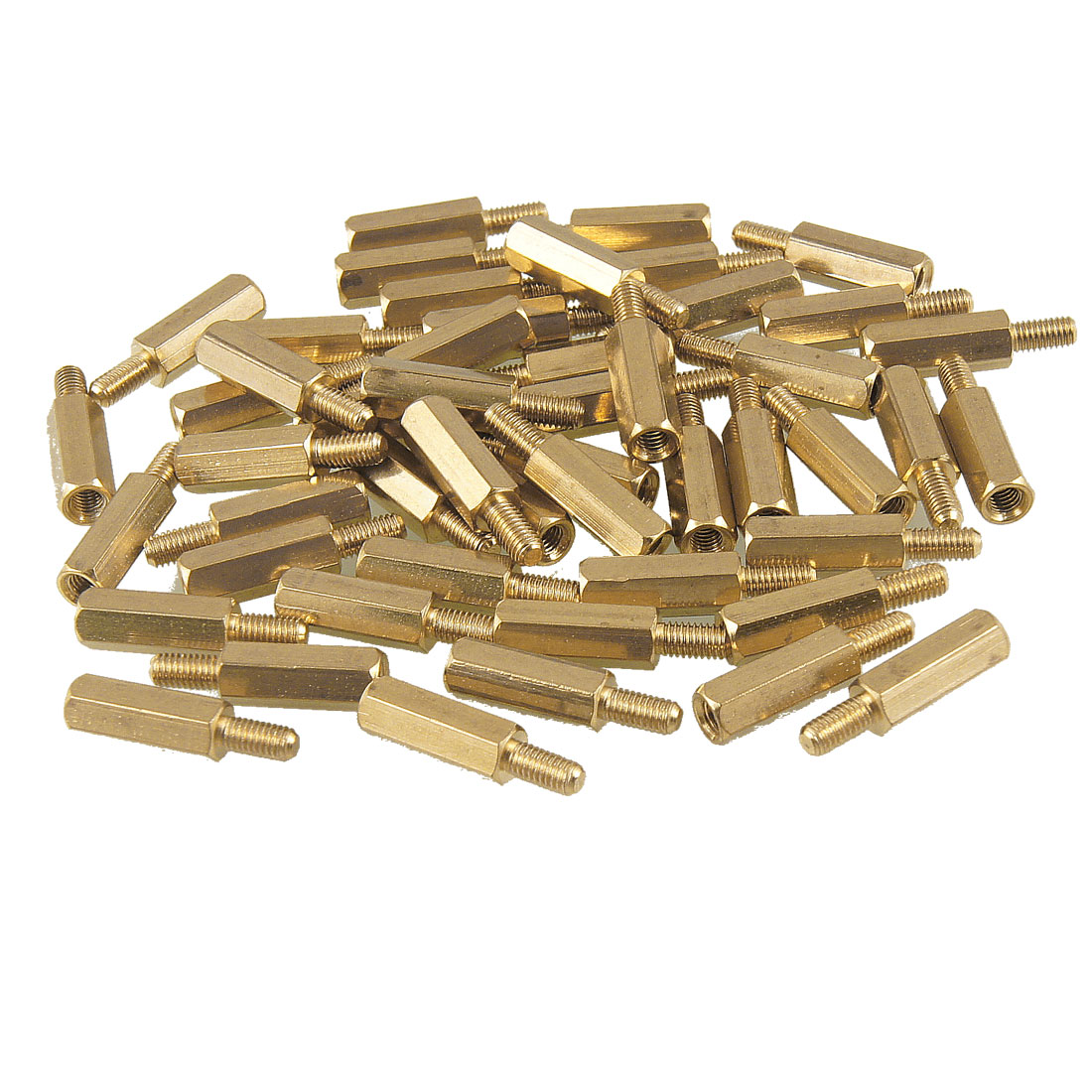50 Pcs M3 Male x M3 Female 13mm Body Hexagonal Thread PCB Standoff Spacer