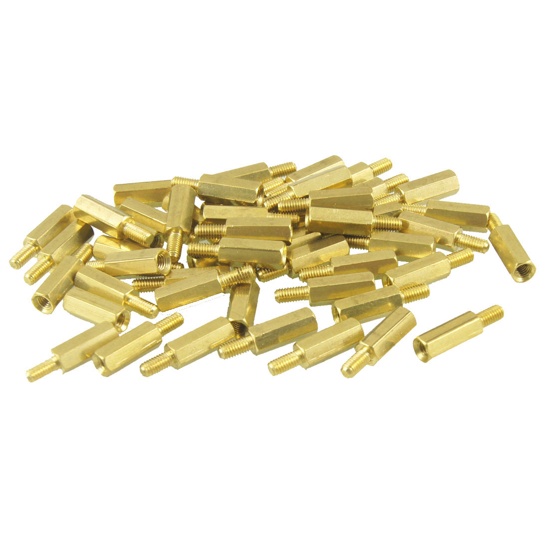 50 Pcs M3 Male x M3 Female Hexagonal Thread PCB Standoff Spacer 20mm Length