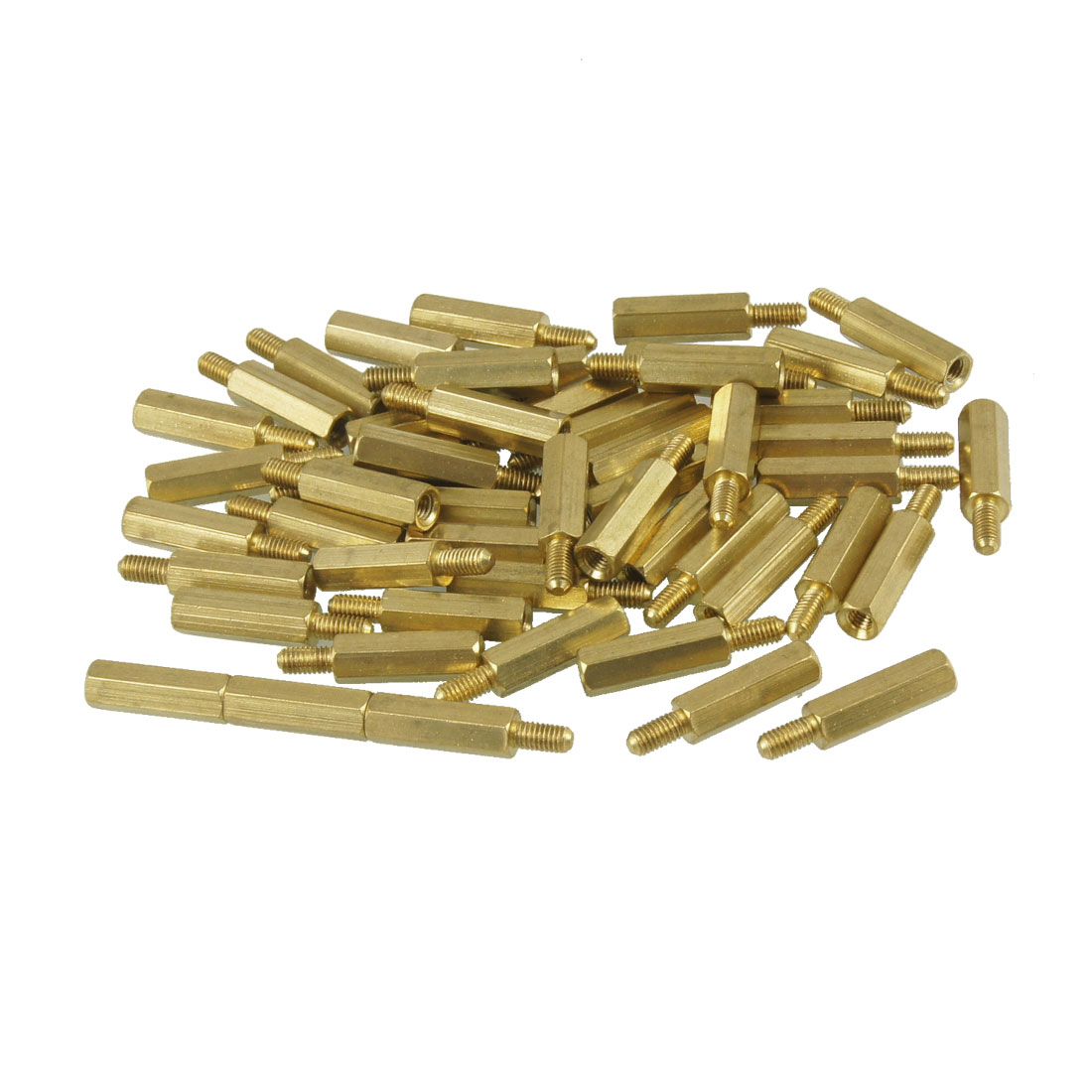 50 Pcs Screw PCB Stand-off Spacer Hex M3 Male x M3 Female 15mm Length