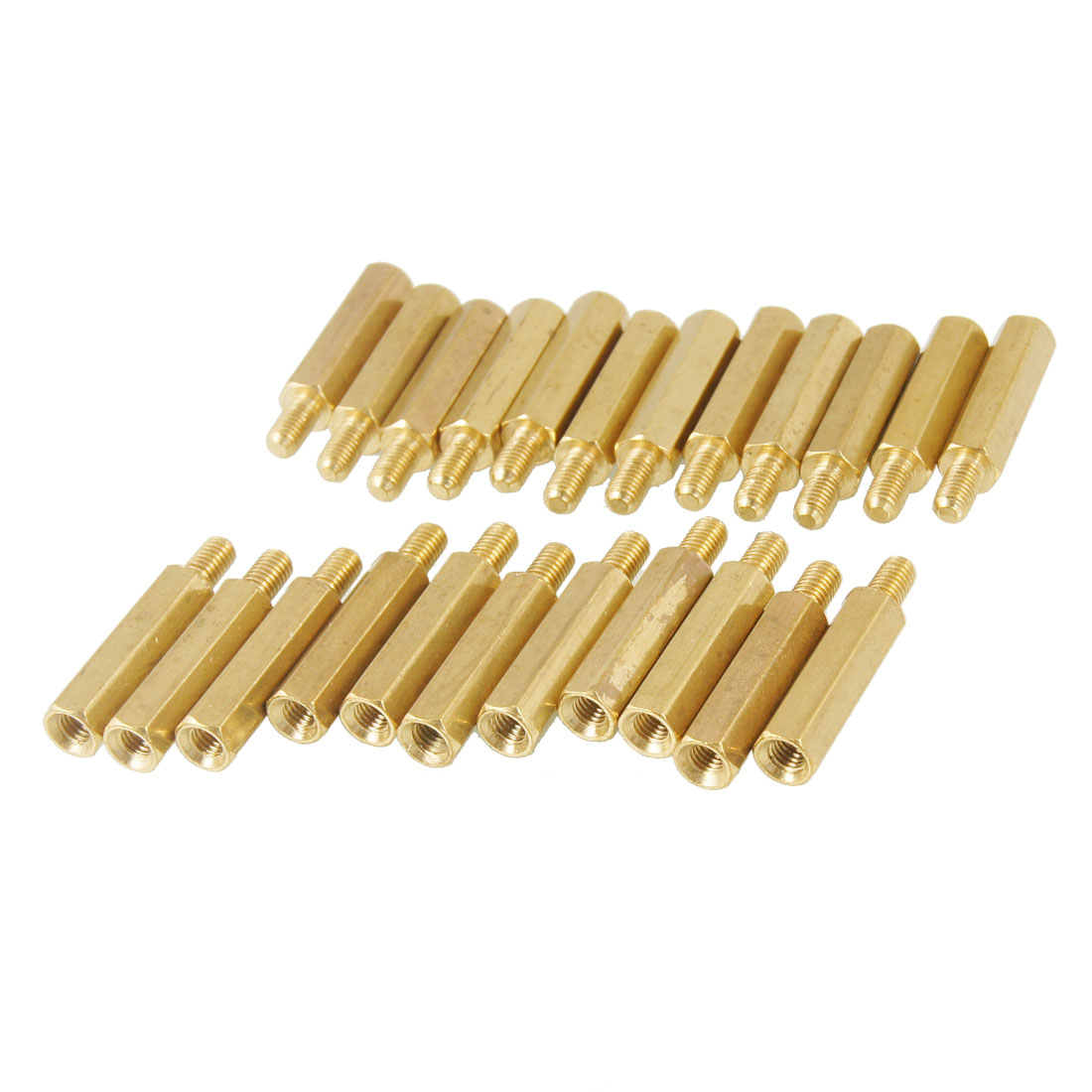18mm Body 50 Pcs Brass Threaded PCB Stand-off Spacer M3 Male x M3 Female