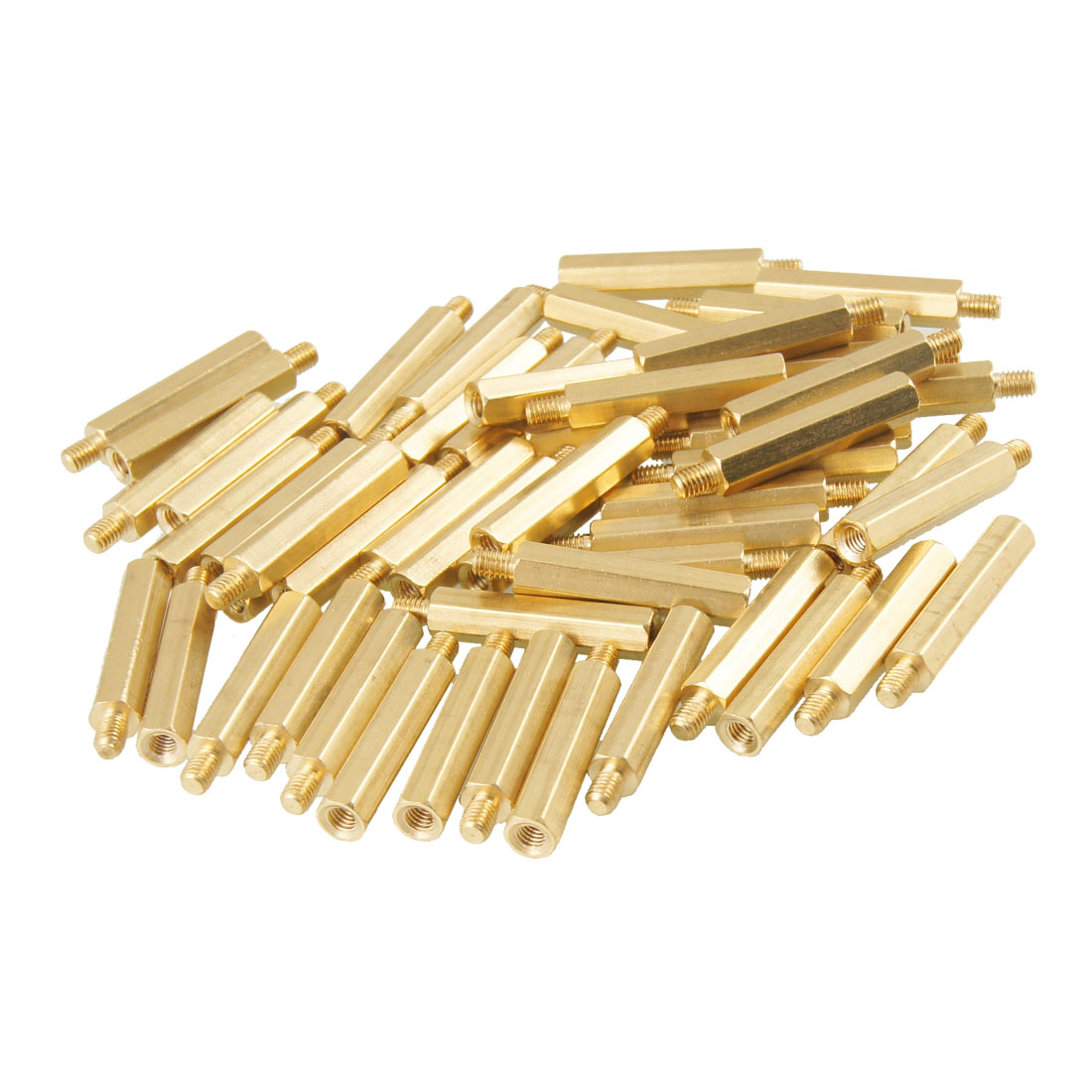 50 Pcs Screw PCB Stand-off Spacer Hex M3 Male x M3 Female 4mm