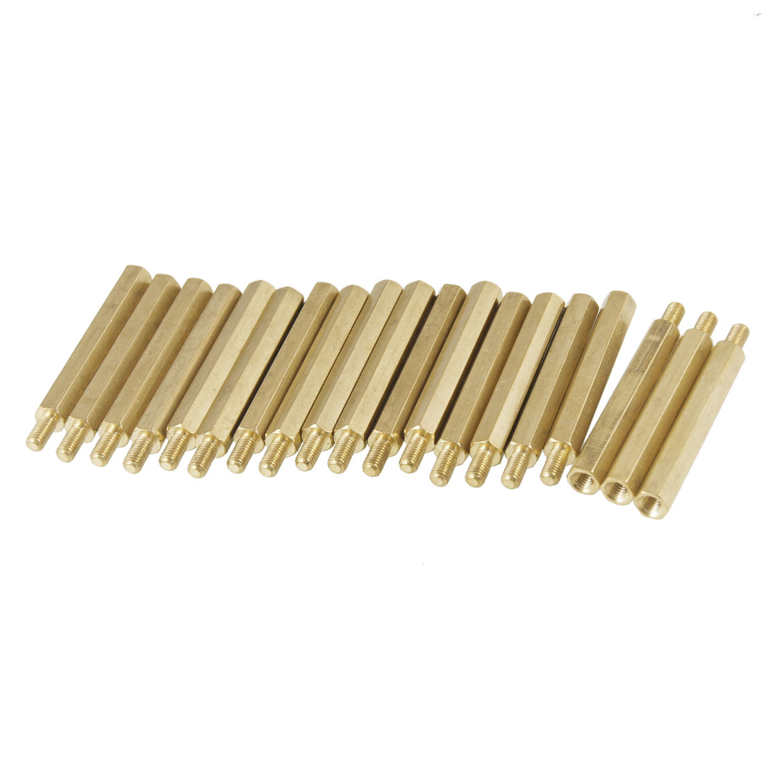 20 Pcs M3 Male x M3 Female 6mm Threaded PCB Stand-off Spacer 31mm Length
