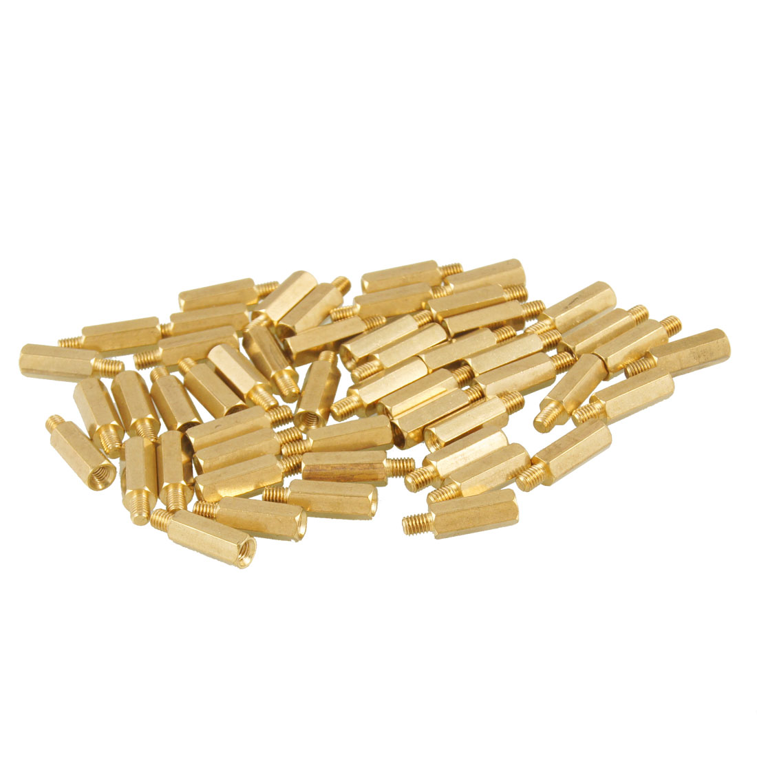 50 Pcs M3 Male x M3 Female 6mm Hexagonal Thread PCB Standoff Spacers