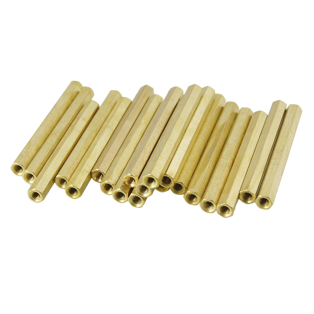 20 Pcs 3mm Female Thread Hexagonal Standoff Spacers 50mm Body