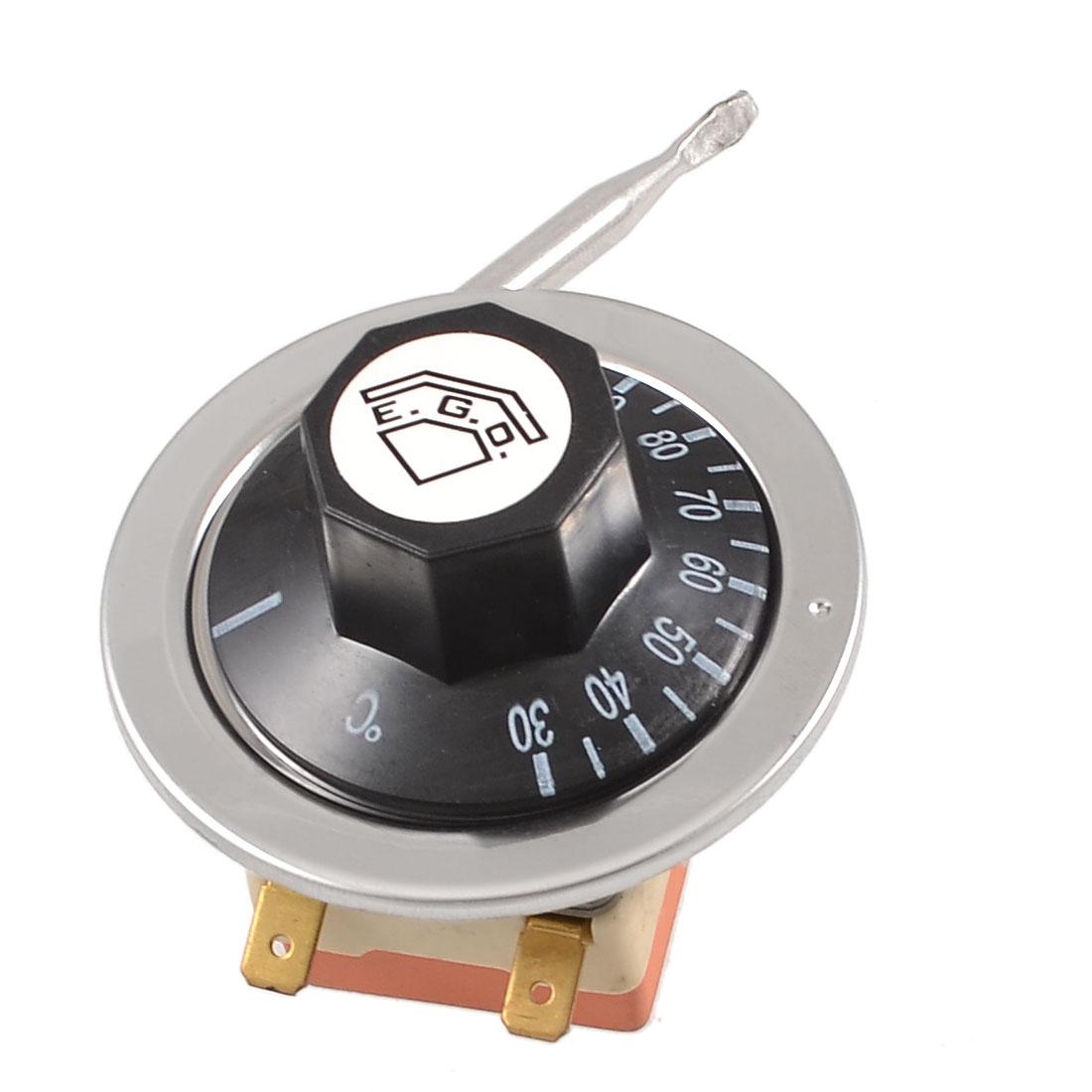 125V/250VAC 16A 30-110C Temperature Control Capillary Thermostat