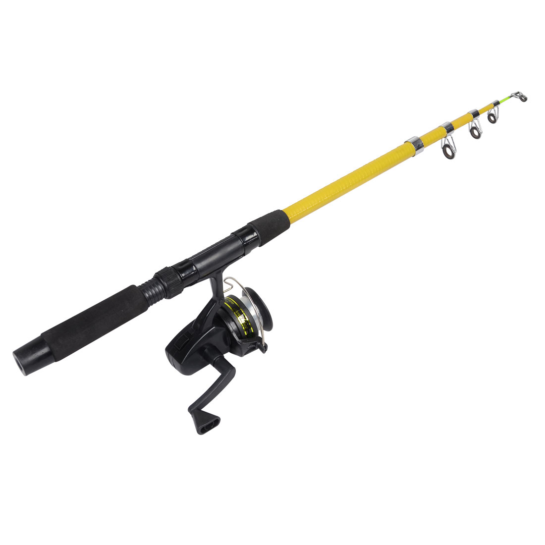 1.7M Long 5 Section Telescopic Fishing Rod Pole w Casting Spinning Reel
