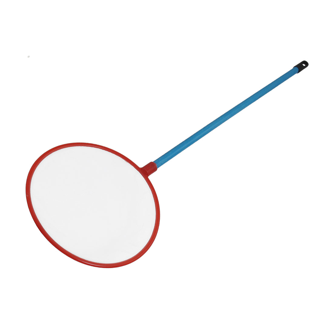 Red Round Mouth Frame Blue Plastic Handle Tank Fish Landing Net