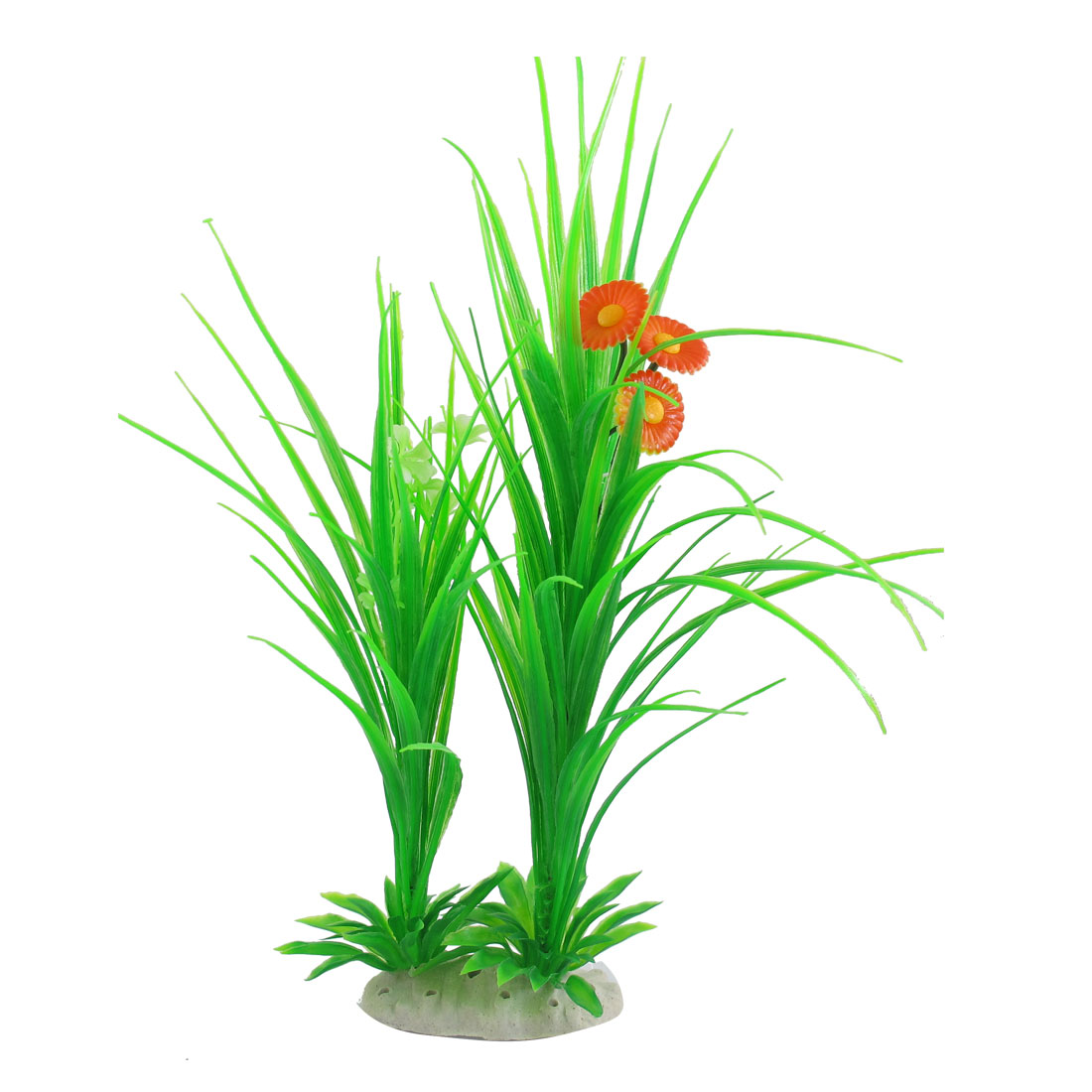 "13"" Artificial Water Flowering Green Plant Decoration for Aquarium Fish Tank"