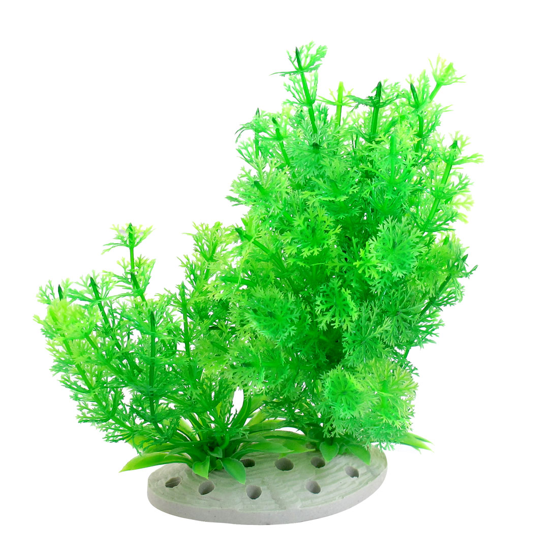 Underwater Green Plastic Plants Fish Tank Aquarium Ornament 7.3""