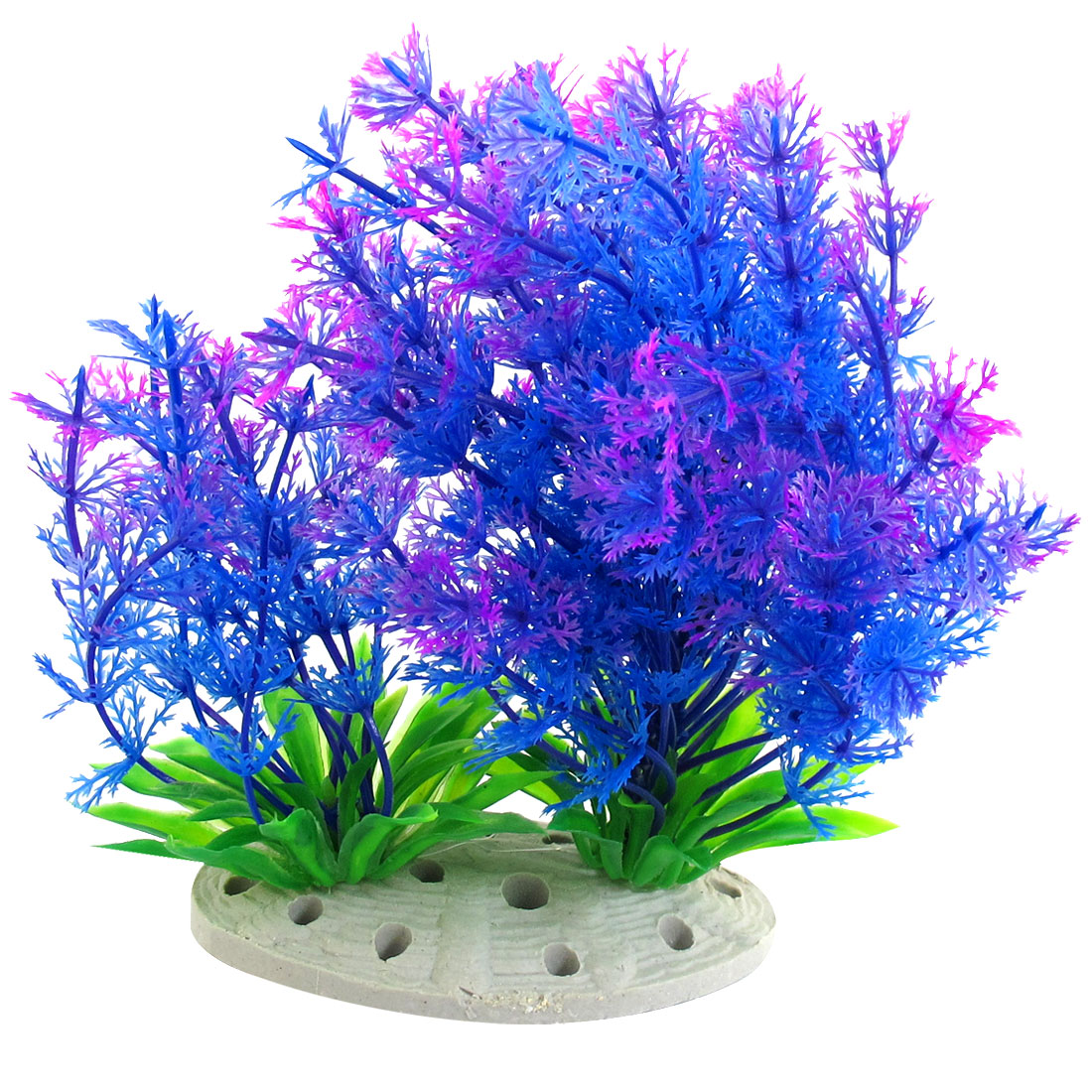 Underwater Multicolor Plastic Plants Fish Tank Aquarium Ornament 6.5""