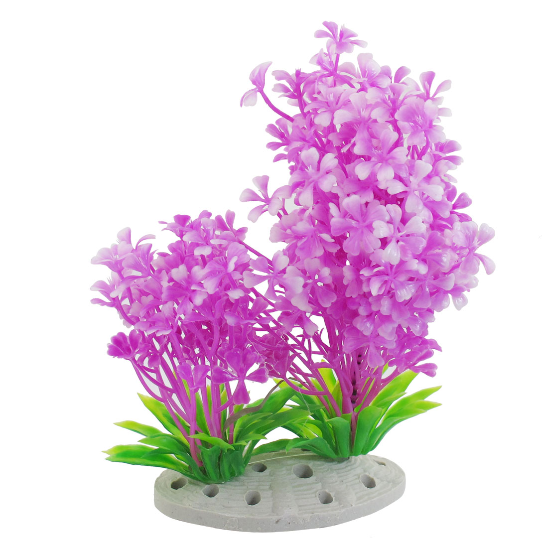 19cm Height Landscaping Plastic Purple Plants Aquarium Aquascaping Tank Decor
