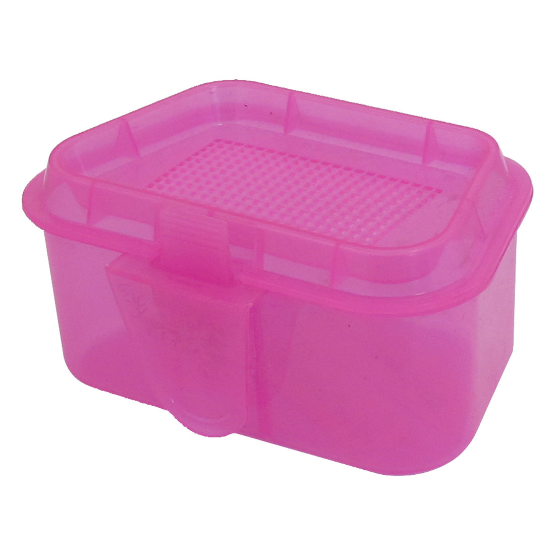 Foldable Plastic Fuchsia Fishing Lure Bait Storage Case Box