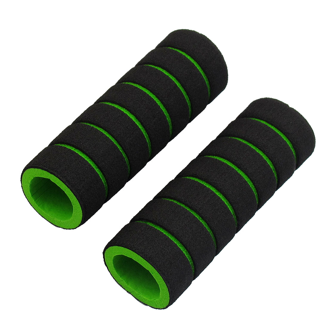 2 Pcs Striped Nonslip Cycling Bike Handlebar Grip Cover Black Green
