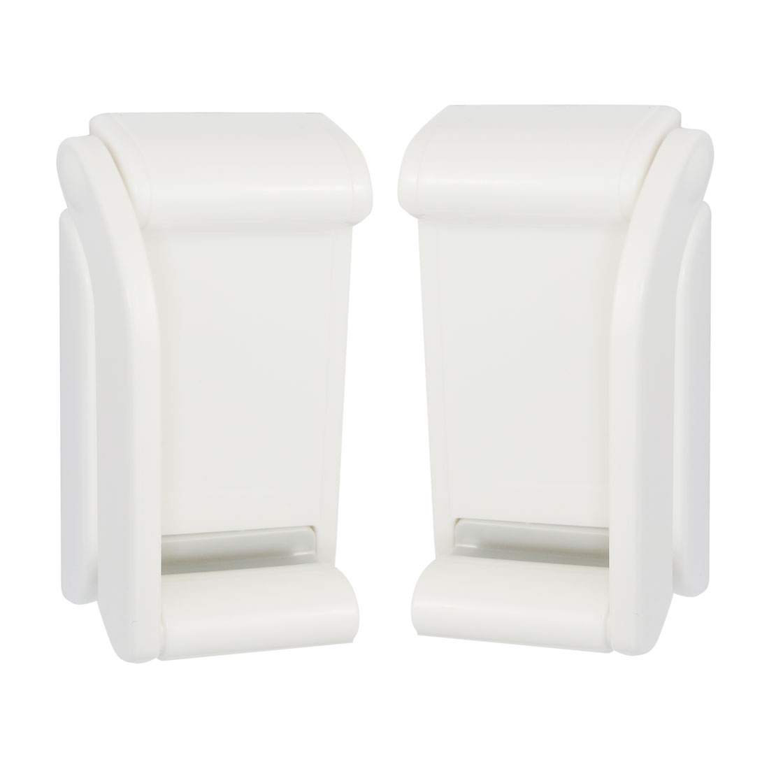 Plastic White Adjustable Magnet Toilet Paper Tissue Holder Bracket