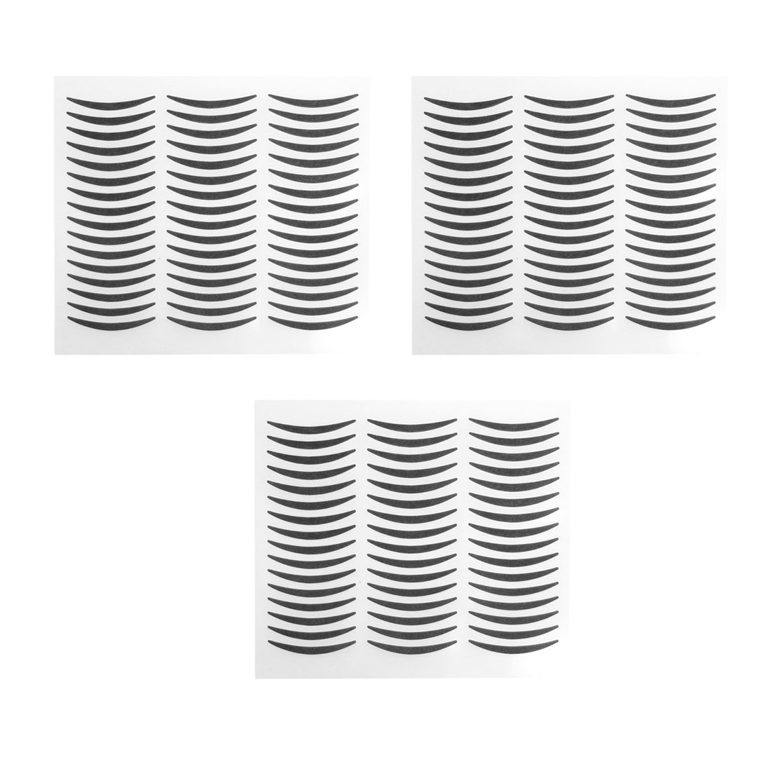 72 Pairs Lady Party Cosmetics Makeup Double Eyelid Sticker Black