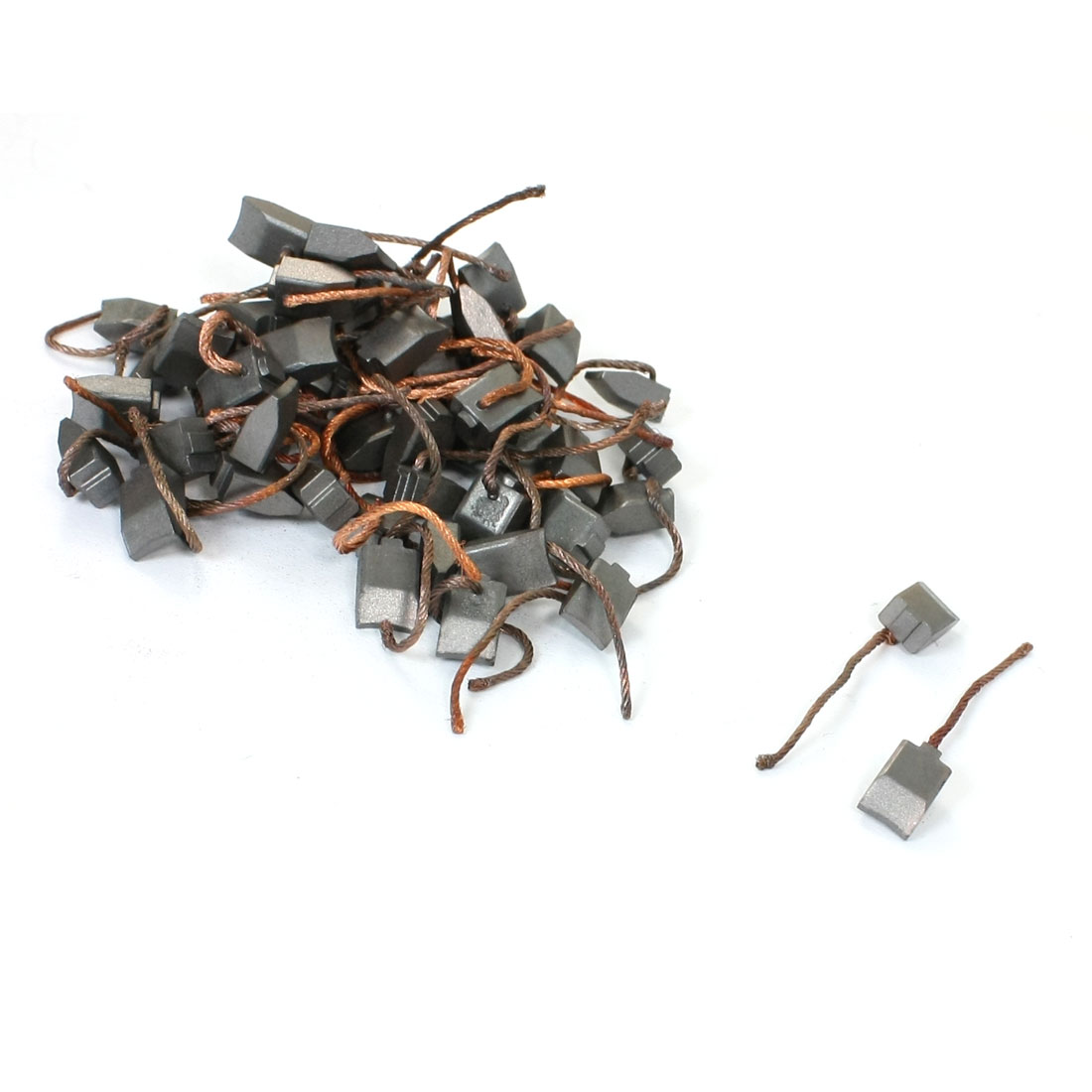 50 Pcs 4.2mm x 6mm x 8.5mm Wire Leaded Carbon Brushes for Massager