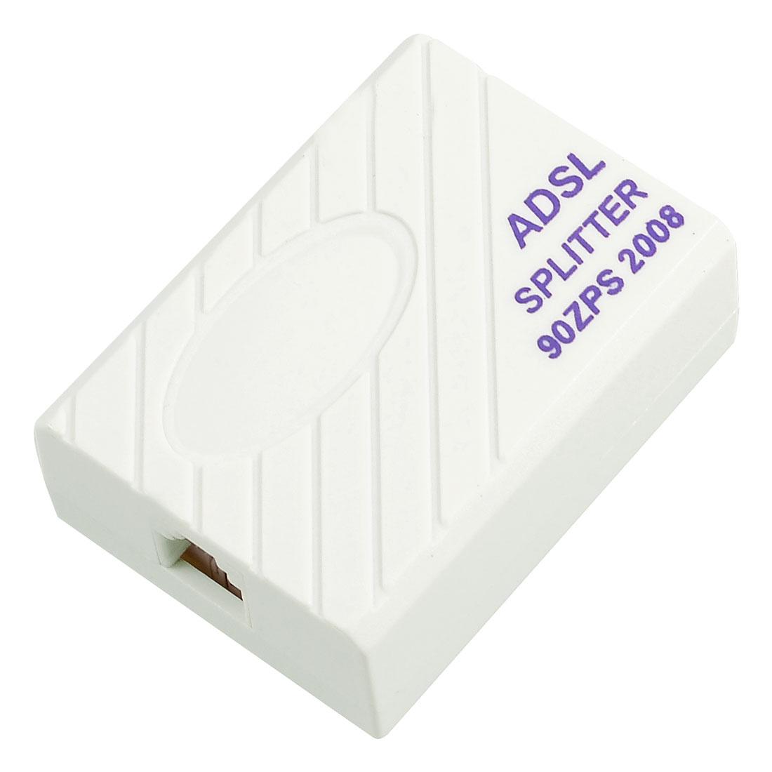 Telephone ADSL Modem 1 to 2 RJ11 6P2C Plug Splitter Filter