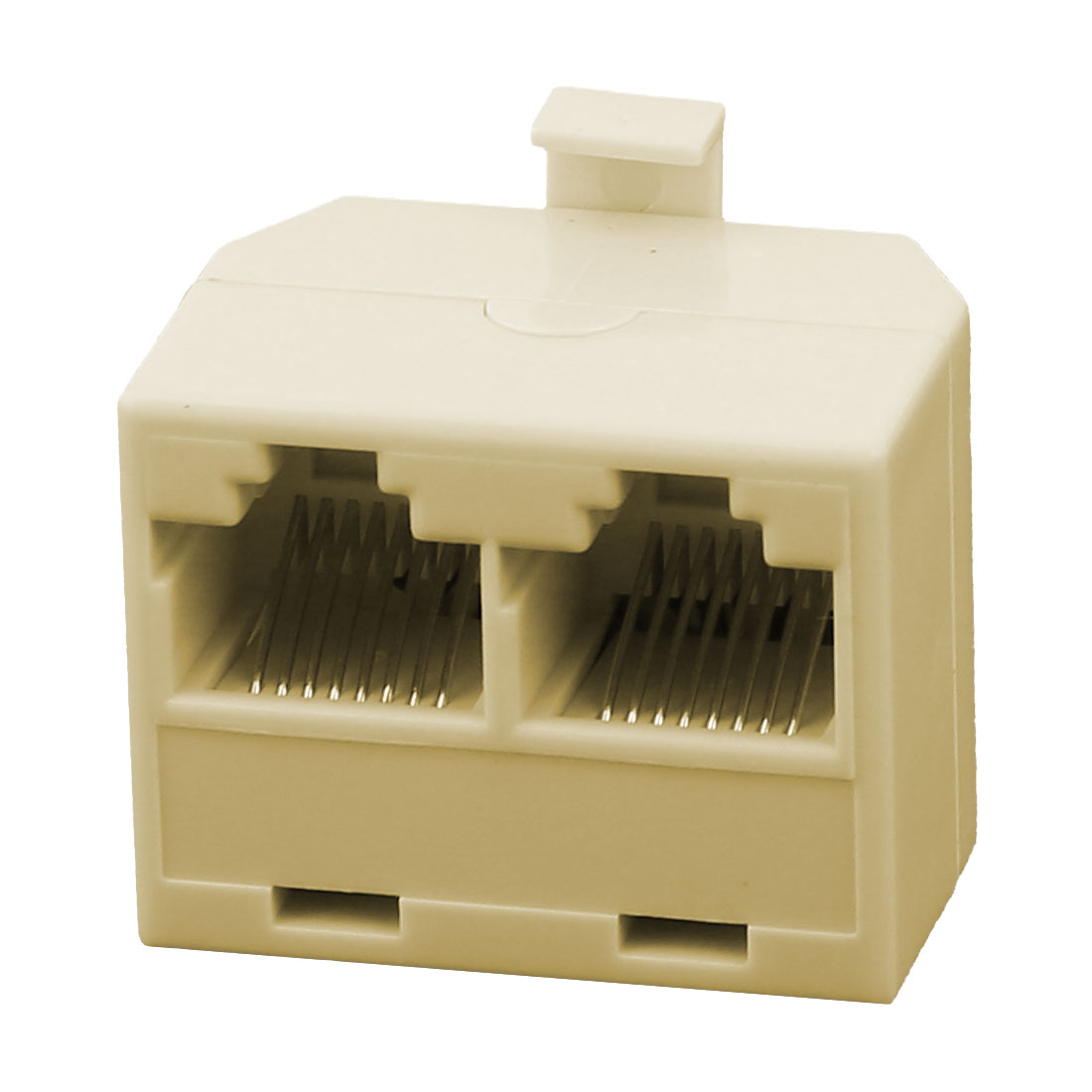 RJ45 2 Female to Male Plug Network Cable Adapter