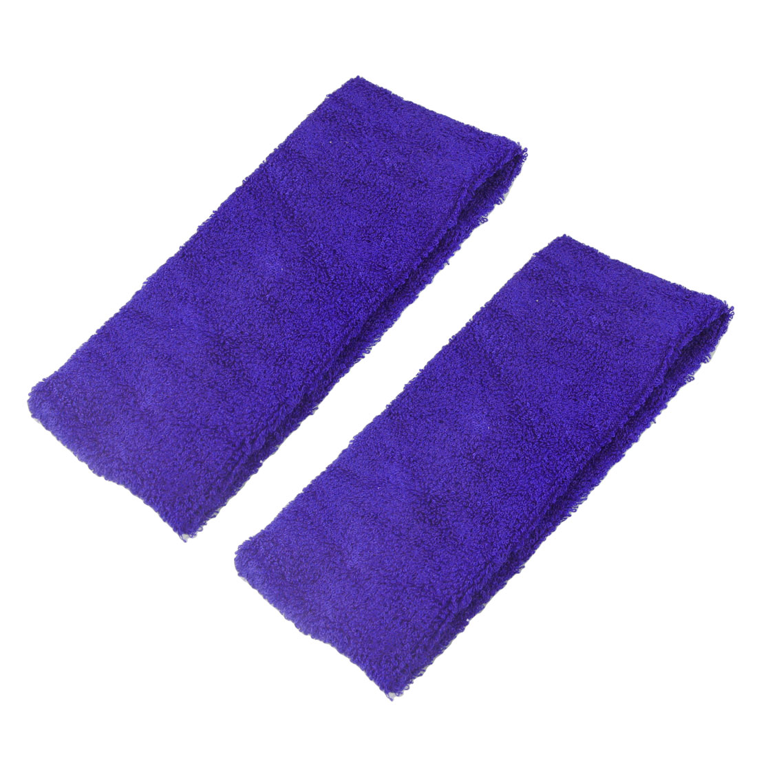 "2 Pieces Terry Cloth 2.6"" Width Elastic Sport Headband Dark Blue"