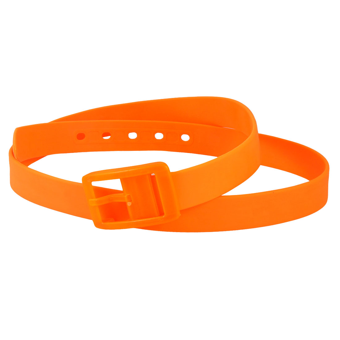 Ladies Single Pin Buckle Orange 2.8cm Wide Plastic Scented Belt
