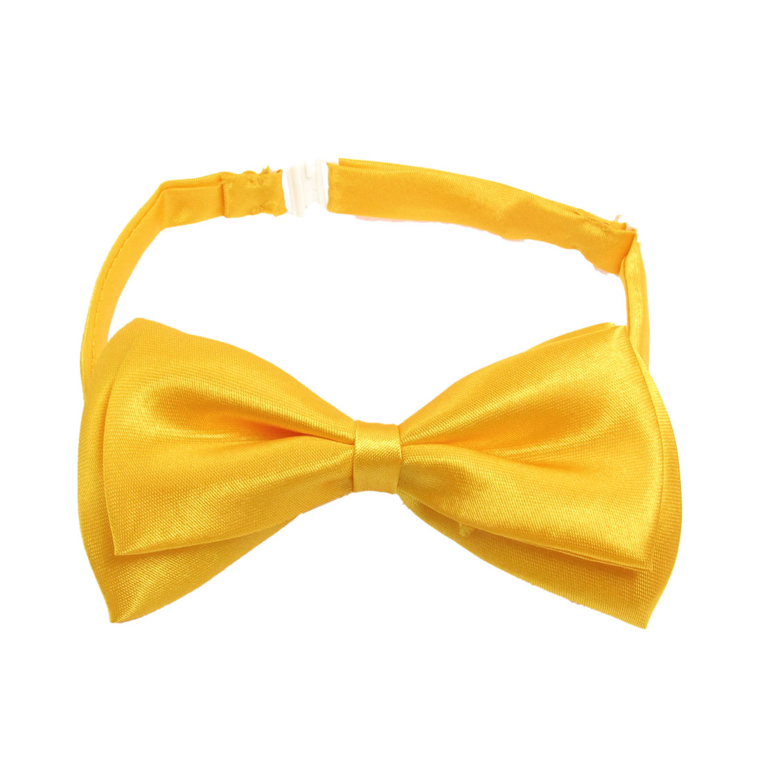 Men Bright Yellow Two Layer Bowknot Nylon Strap Design Bow Tie