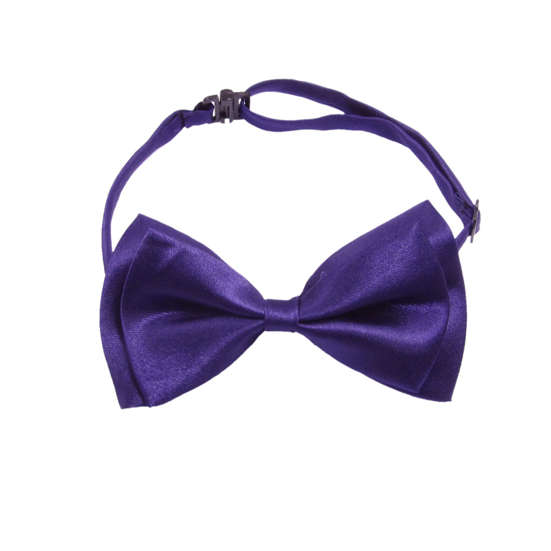 Purple Two Layer Bowknot Interlock Buckle Design Bow Tie for Men