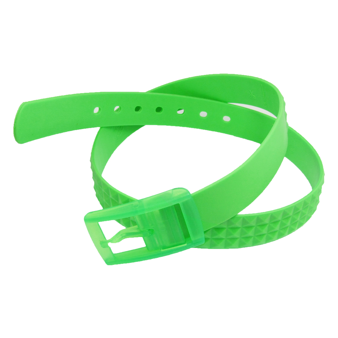 "1.3"" Green Detachable Buckle Plastic Checkered Pattern Belt for Women"