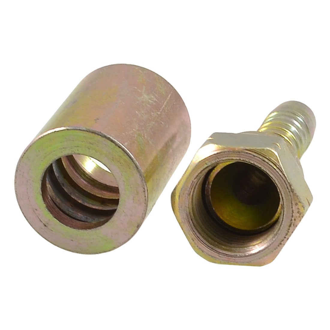 "3/8"" PT Thread Hydraulic Cone Flared Tube Coupler Oil Piping Connector"