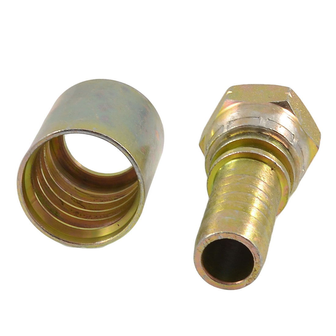 "Hex Bushing 3/4"" PT Female Threaded Oil Pipe Connector Barb Hose Coupler"