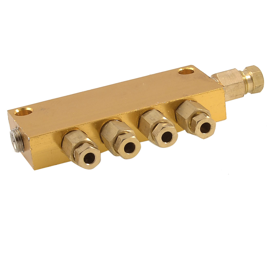 Brass 4 Ways Adjustable Distributor Manifold Block for 4mm 6mm Tube