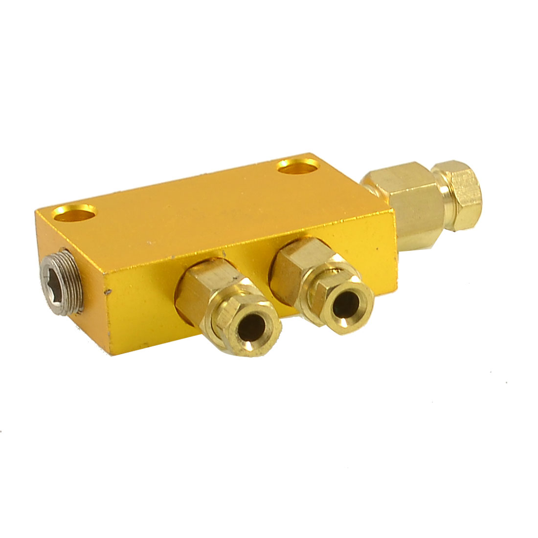 Air Pneumatic Brass Adjustable 2 Ways Distributor Manifold Block