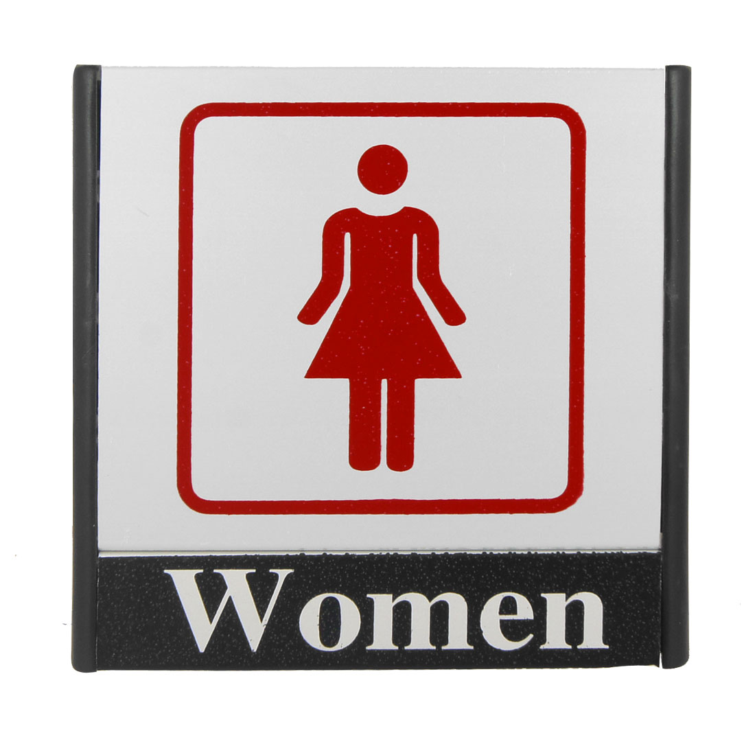 Red Lady Printed Restroom Toilet Notice Sign Instruction Board