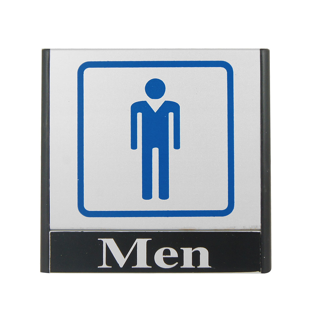 Blue Men Printed Restroom Toilet Notice Sign Instruction Board