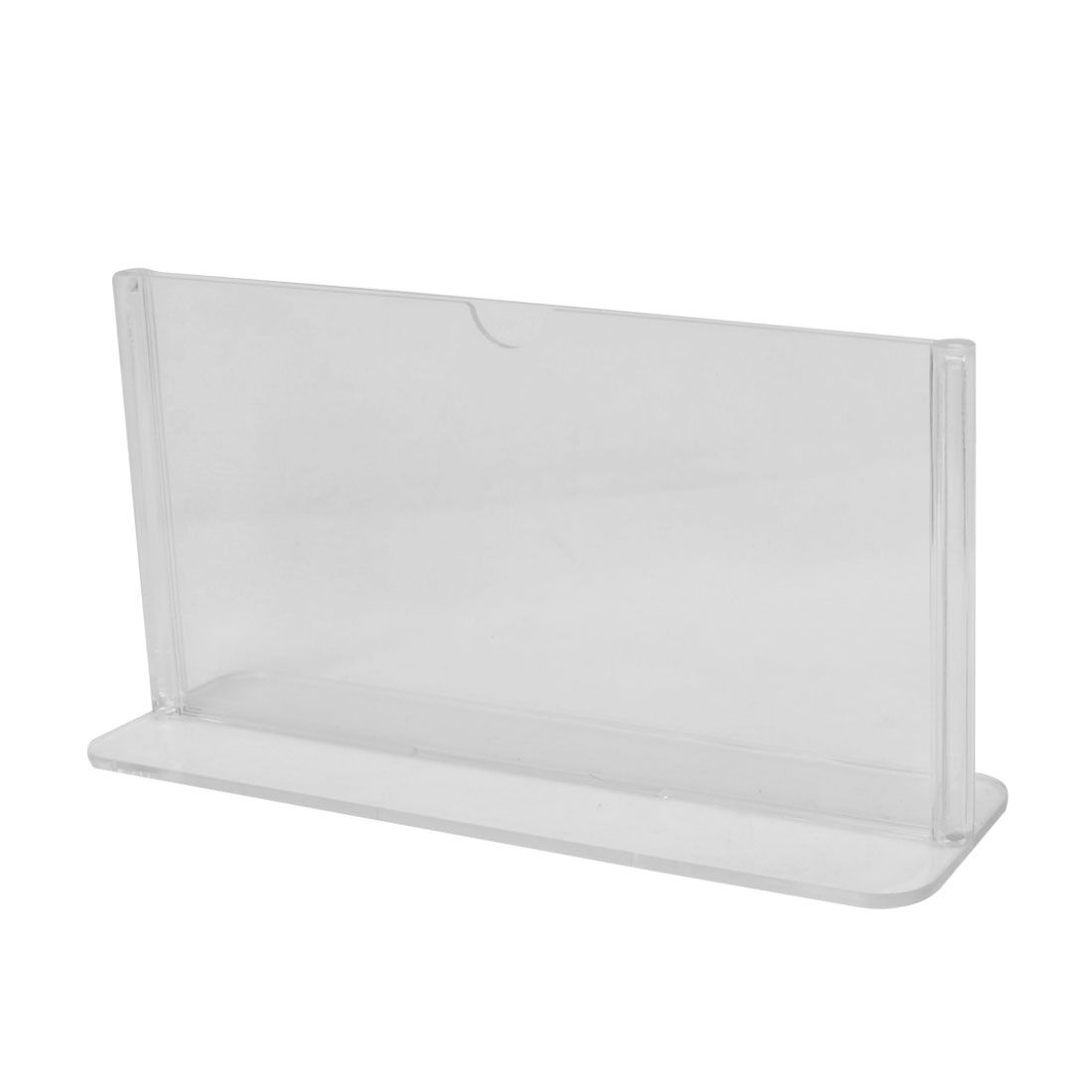 Clear Plastic 17.8 x 10cm Standard Price Menu Display Holder