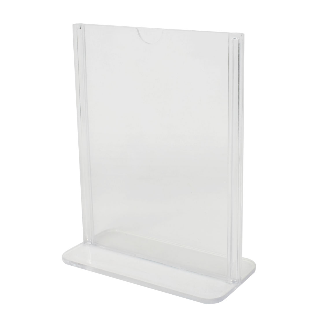 Clear Plastic 10.5 x 15cm Standard Price Menu Display Holder