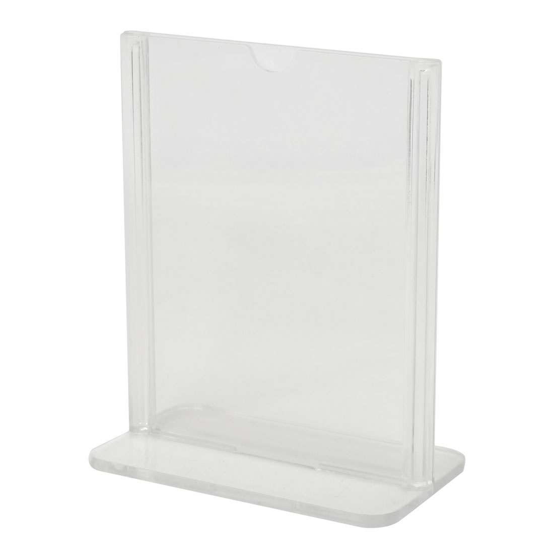 Clear Plastic 7.3cm x 10.5cm Standard Price Menu Display Holder