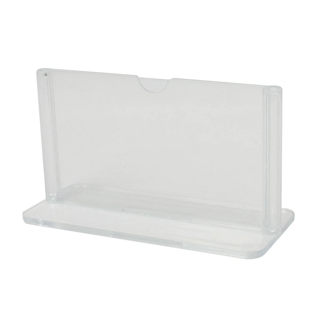 "Clear Plastic 3.5"" x 2.2"" Hotel Restaurant Menu Display Holder"