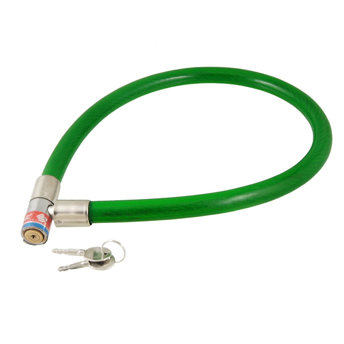"24.4"" Green Flexible Cable Bike Bicycle Motorcycle Security Lock w Keys"