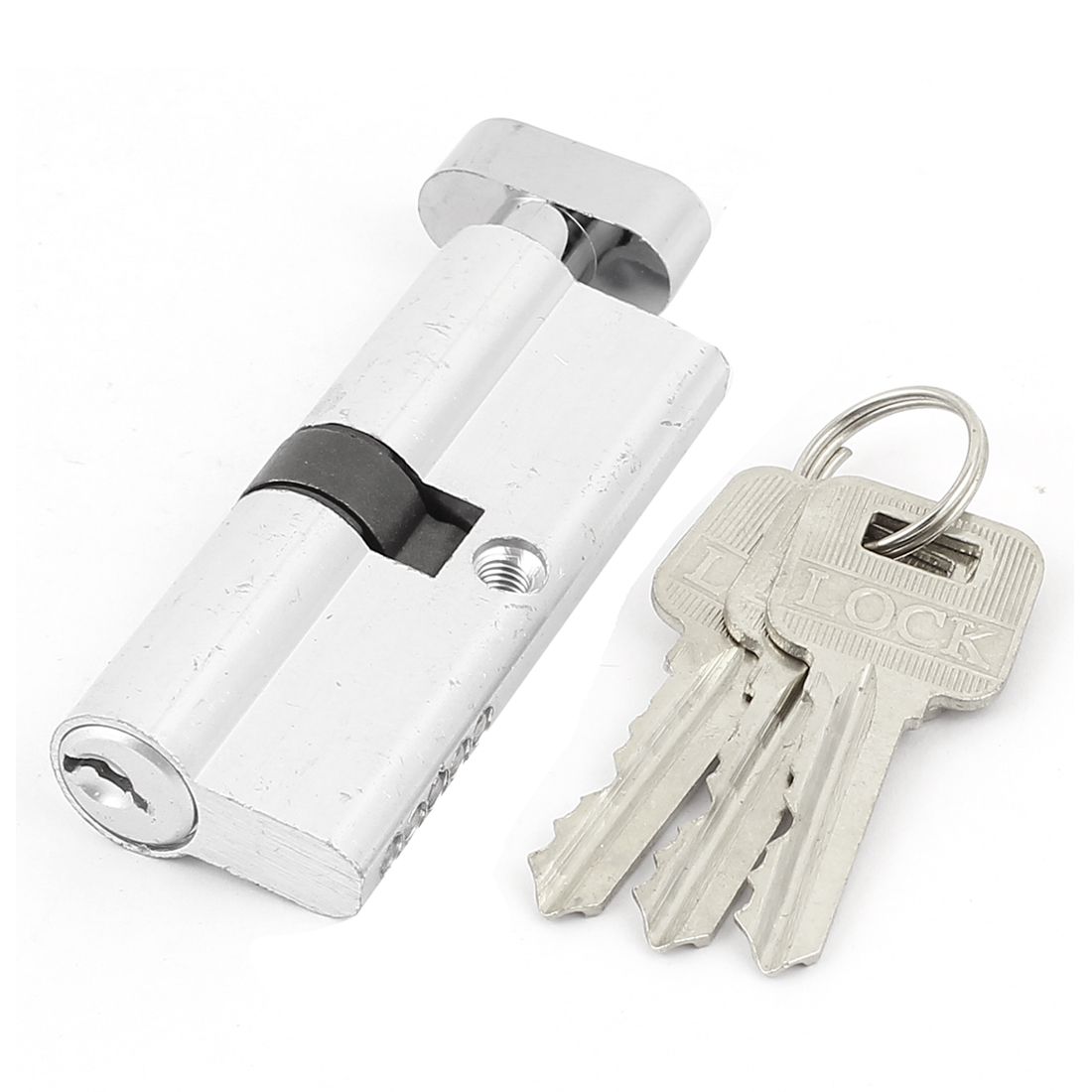 "Home 3.3"" Length Silver Tone Anti-theft Security Door Lock Core w Key"