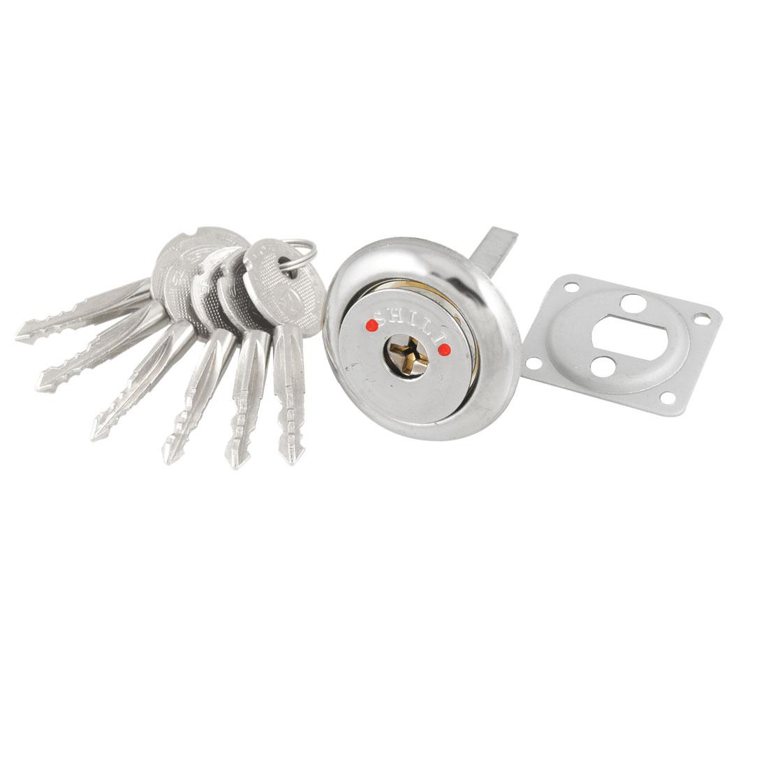 Brass Screw Cross Keyway Security Lock Key Cylinder w 6 Keys
