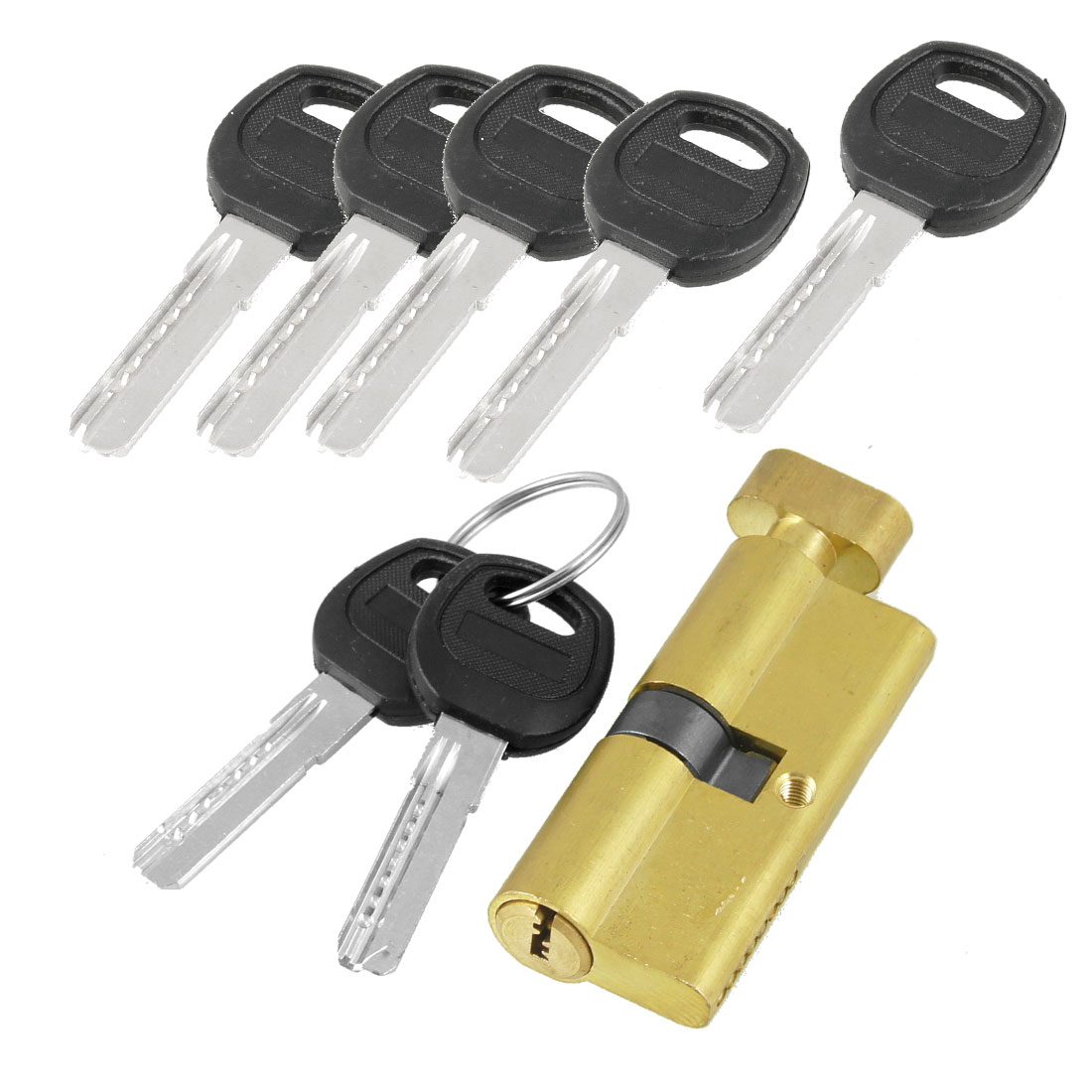 Home Gold Tone Metal Anti-theft Security Door Lock Core w 7 Keys
