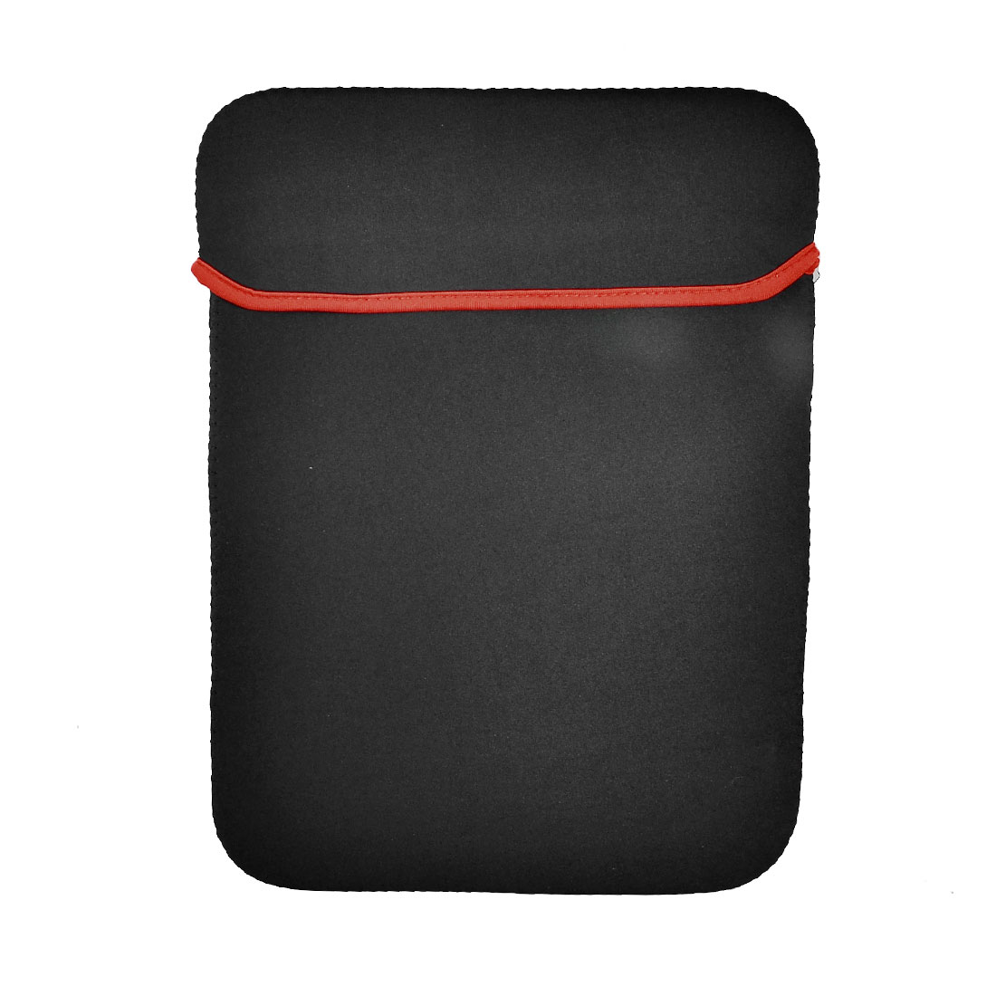 "14"" Widescreen Leptop Bag Vertical Neoprene Notebook Case Black Red"